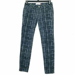 Cabi Size 4 Grid Skinny Jeans
